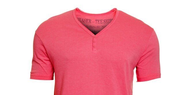 b9cf6cd4dba0 Pánske ružové tričko Chaser