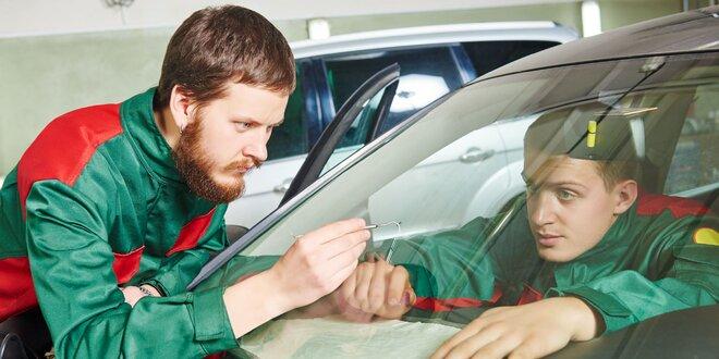 Oprava čelného skla alebo preliačín na aute