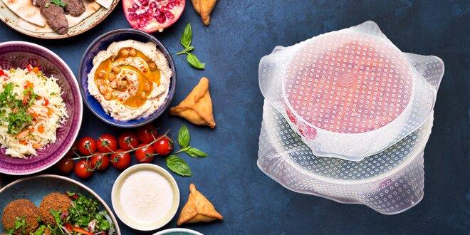 Set silikónových pokrievok pre vždy čerstvé potraviny