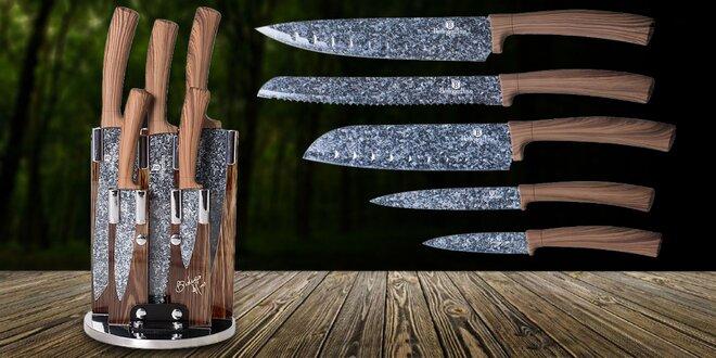 Sada 5 nožov v otočnom stojane z rady Forrest Line