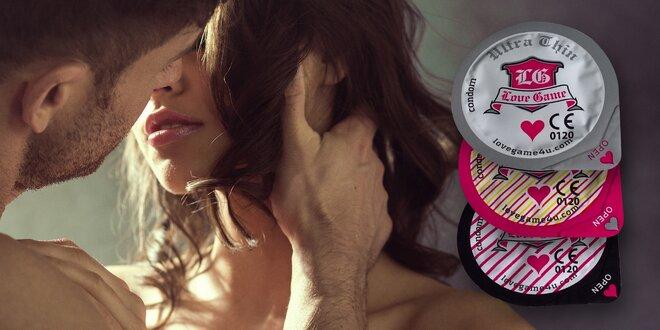 Balíčky kondómov LOVE GAME mix + darček