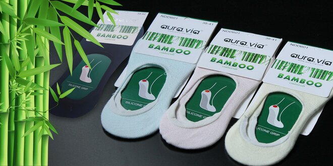 """Bambusové ponožky """"ťapky"""" do balerínok alebo nízkych tenisiek"""