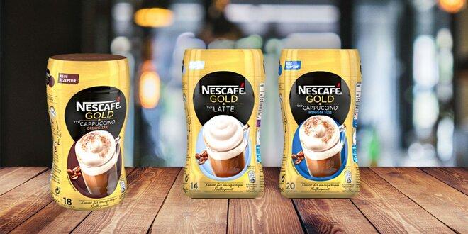 Lahodné instantné kávy Nescafé Gold