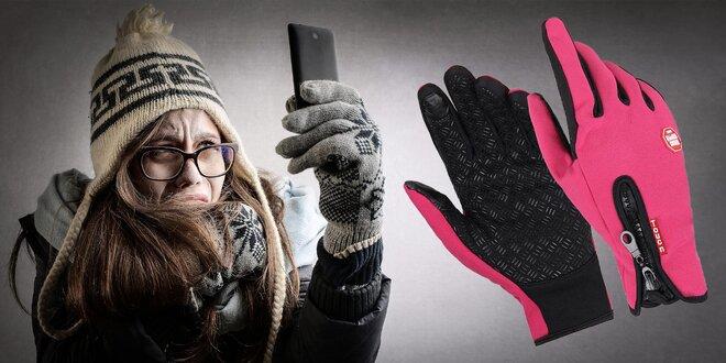 Športové rukavice s dotykovými končekmi prstov