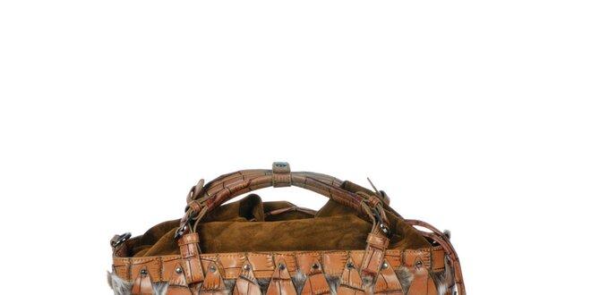 Dámska ťavia kabelka s efektným vzorom Marina Galanti