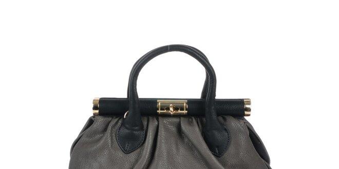 Dámska šedá retro kabelka so zlatými prvkami Marina Galanti