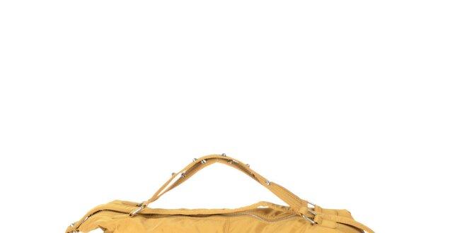 Dámska žltá kabelka s dvomi zipsami Marina Galanti