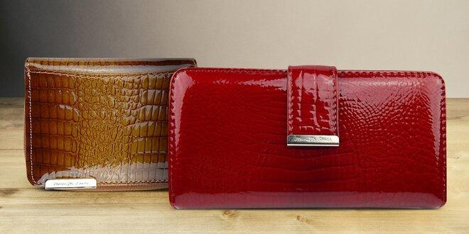 Lakovaná kožená peňaženka Jennifer Jones