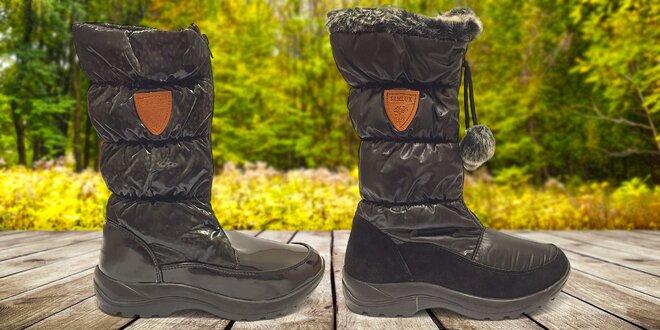 Dámske zateplené topánky Samlux s hrejivou kožušinkou