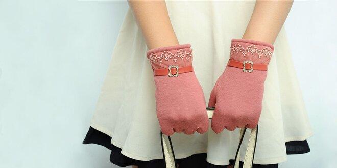 Elegantné dámske rukavice na dotykový displej
