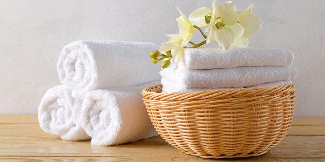 Mäkké uteráky a osušky Calypso v bielej farbe