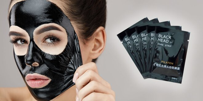 Kórejska čierna pleťová maska Pilaten