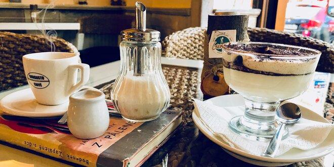 Pravé domáce tiramisu s espressom v Cafe GEMMA