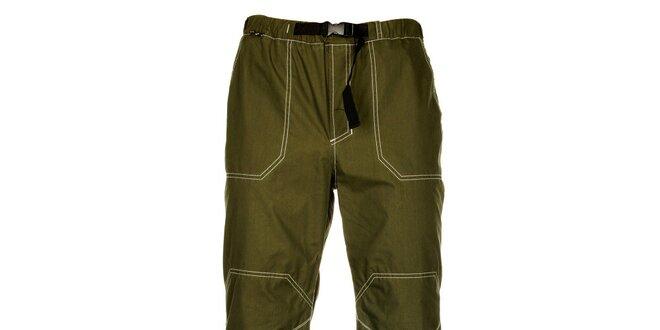 Pánske olivovo zelené nohavice Hannah