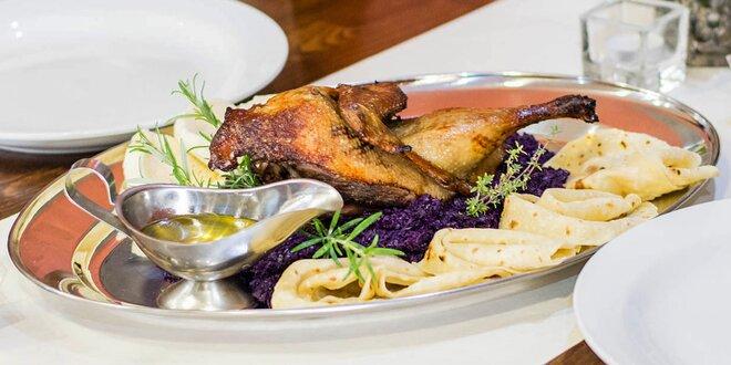 Pečená kačka s dezertom pre 2 alebo 4 osoby