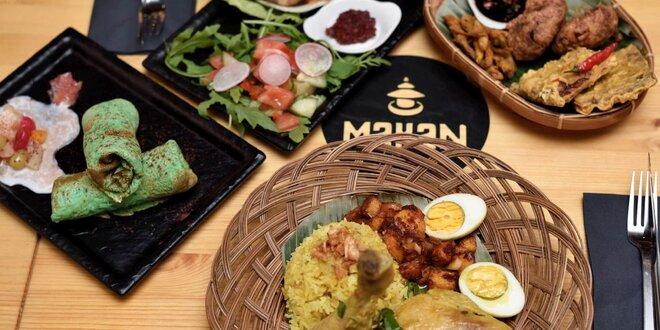 Degustačné indonézske menu v reštaurácii Makan