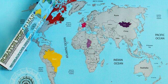 Cestovateľská stieracia mapa