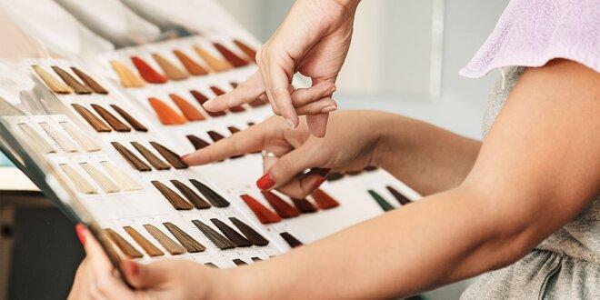 Dámsky strih, farbenie a kúra na vlasy Redken
