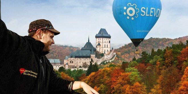 Romantický let balónom v Čechách i na Morave!