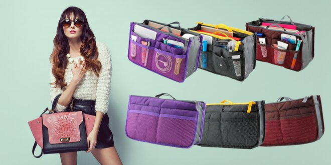 Praktický organizér do kabelky v 10 farbách
