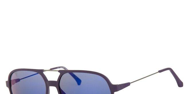 5a81745fc Pánske fialové slnečné okuliare Calvin Klein so zrkadlovými sklami ...