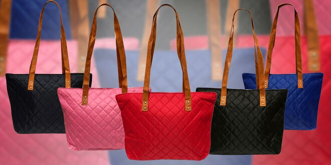 Dámska prešívaná taška - na výber 5 farieb