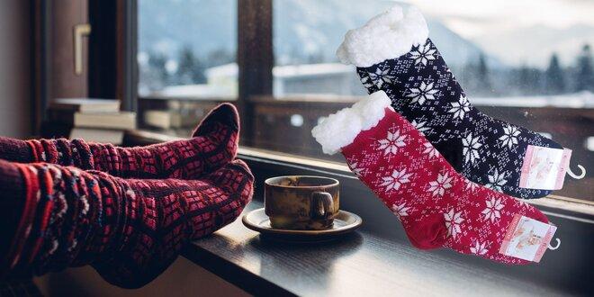 Ponožky z ovčej vlny s hebkou podšívkou