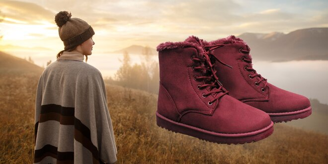 Dámske členkové zateplené topánky Rydel