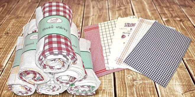 Výbava pre gazdinú: 5 ks bavlnených utierok