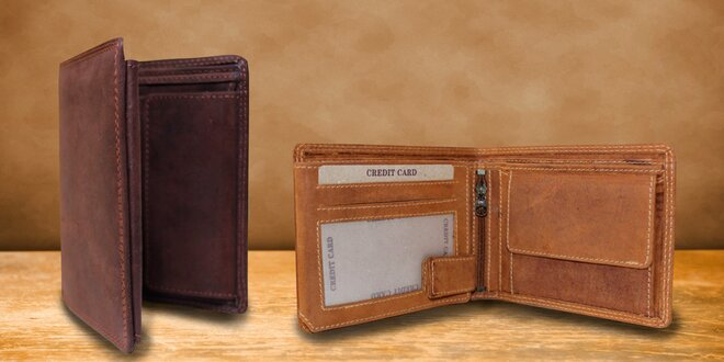 Pánska peňaženka z pravej byvolej kože