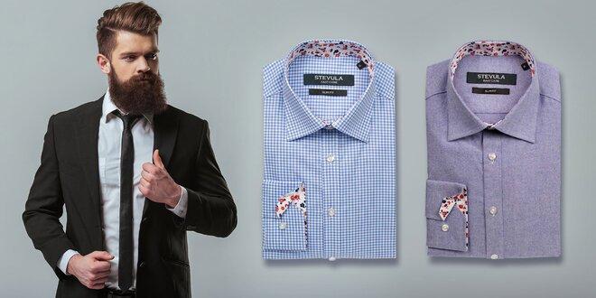 Moderné Slim Fit pánske košele zo 100 % bavlny