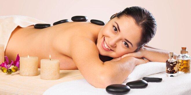 Klasická masáž celého tela s masážou lávovými kameňmi