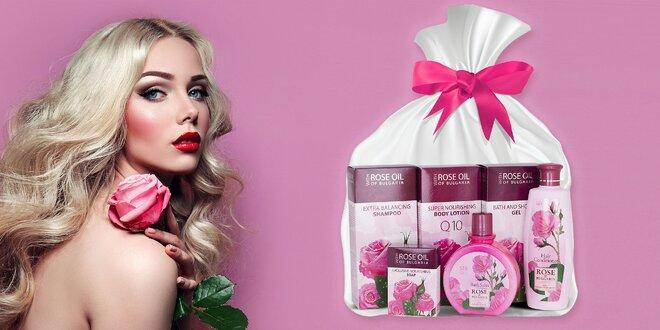 Darčekový balíček telovej a vlasovej kozmetiky s ružovým olejom