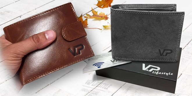 Pánske kožené peňaženky v darčekovej kazete