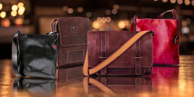 Štýlové kožené pánske tašky GAUDIN ručnej výroby