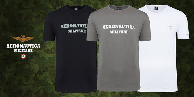 Set 3 tričiek talianskej značky Aeronautica Militare
