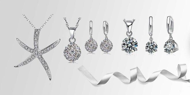 Dámske šperky s kryštálmi diamantového brusu!