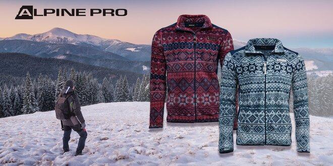 Pánske vzorované mikiny Alpine Pro