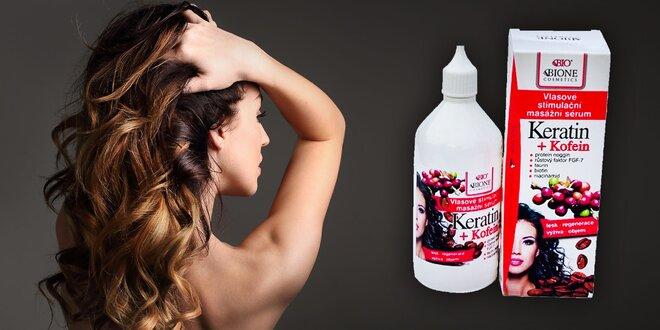 Vlasové stimulačné masážne sérum KERATIN + KOFEIN