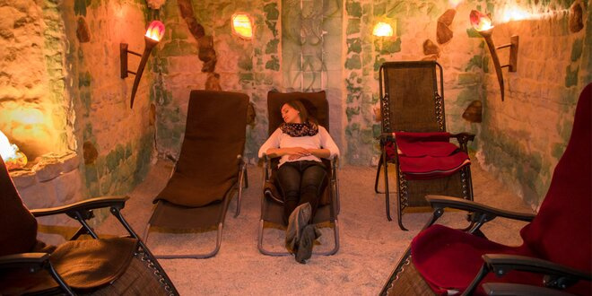 Exkluzívny nočný pobyt v soľnej jaskyni alebo jednorazový vstup