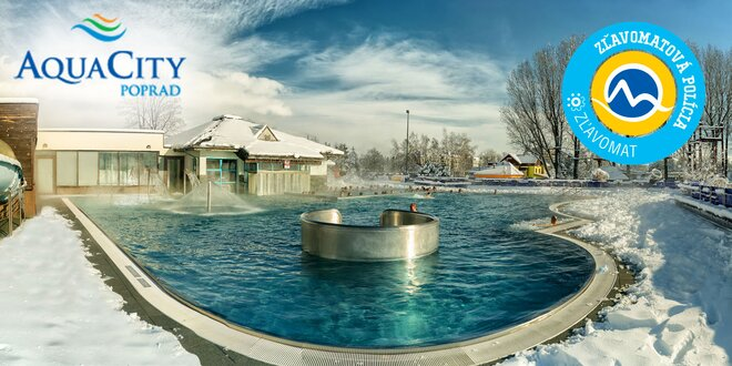 Celodenný vstup do AquaCity Poprad