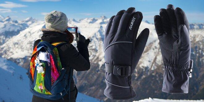 Lyžiarske dotykové rukavice