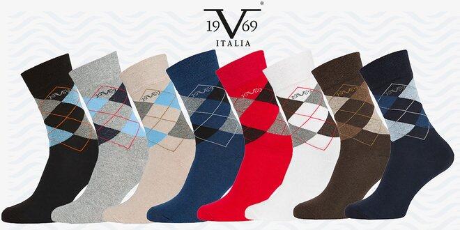 Balenie 5 párov business ponožiek 19V69 Italia