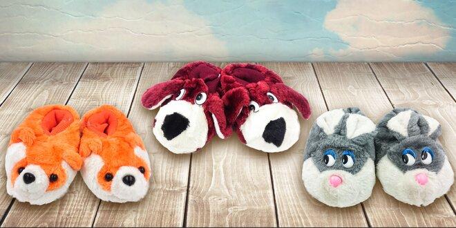 Detské papuče s milými zvieratkami