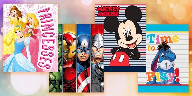 Fleecové deky s motívmi hrdinov z filmov a rozprávok