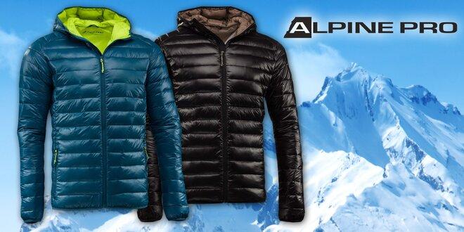 Pánska zimná bunda Alpine Pro v nadýchanom štýle Puffy s DWR impregnáciou
