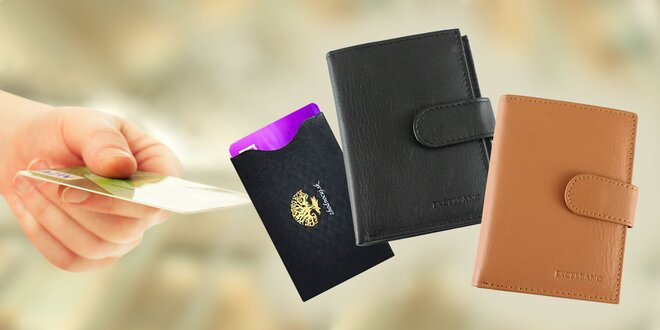 Elegantné dokladovky, aj na bankovky