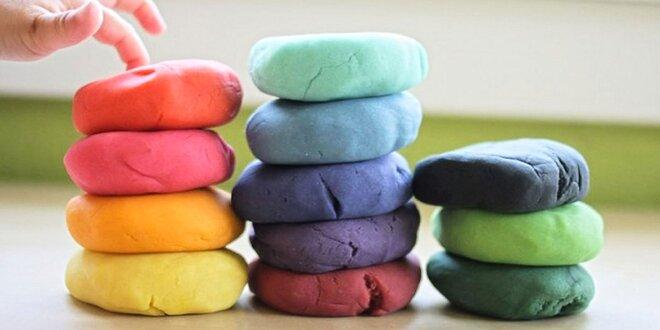 Novinka: Plastelína na báze ílu - balenie 5 farieb