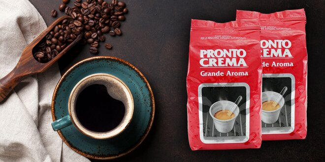Znamenitá pražená zrnková káva Lavazza