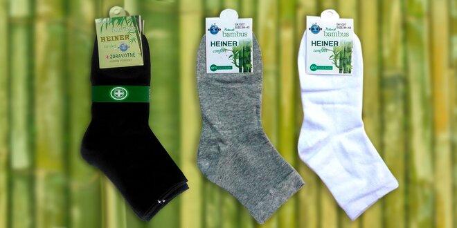 Pánske ponožky s bambusovým vlláknom